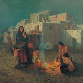 Taos Pueblo - Moonlight