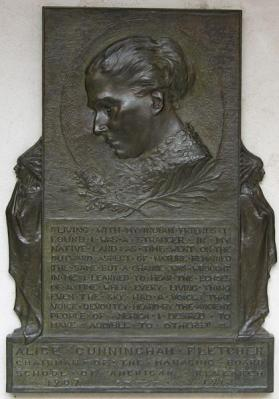 Memorial Plaque - Alice Cunningham Fletcher, Chairman of the Managing Board, School of American Research 1907-1912