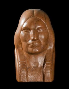 Untitled (Bust of Native American Male)