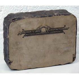 No title (lithographic stone with letterhead from Merchants' and Manufacturers' Mutual Insurance Company)
