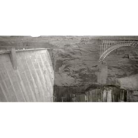 Dam and bridge at Glen Canyon, near Page, Arizona