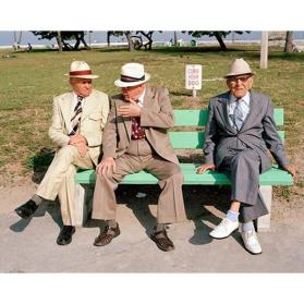 Untitled (Three Men on Bench)
