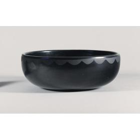 Black-on-black bowl