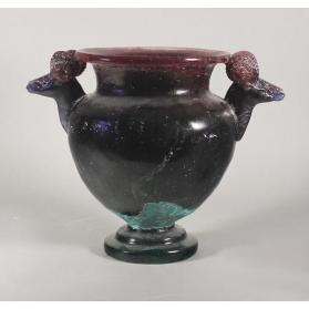Untitled (Amethyst Urn with Ram Head Handles)