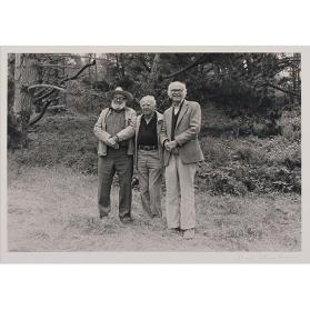Beaumont Newhall, Willard Van Dyke and Ansell Adams at Weston Beach, Point Lobos, California on the Occasion of Beaumont Newhall's 75th Birthday
