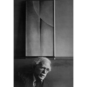 Alfred Stieglitz and Painting by Georgia O'Keeffe, at An American Place, New York City