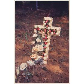 Grave with Egg Carton Cross, Hale County, Alabama