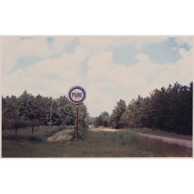 Pure Oil Sign in Landscape near Marion, Alabama