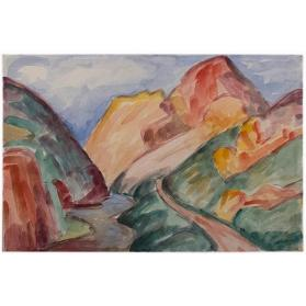 Untitled (A Road Near a New Mexican River)