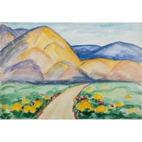 Untitled (Landscape with Yellow and Blue Mountains)