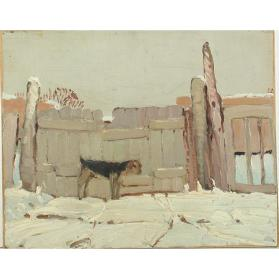 Untitled (Dog and Fence)