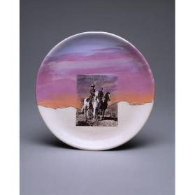 Untitled (plate), (Pecos Sky)