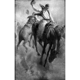 Illustration - Scene of Cowboy Life (Rodeo)