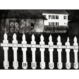 The White Fence, Port Kent, New York  (from Paul Strand: Portfolio Three)