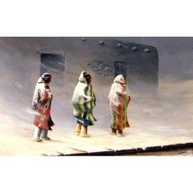 Three Indians in Snowstorm