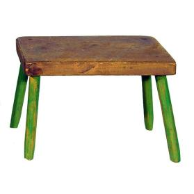 Brown Table with Green Legs